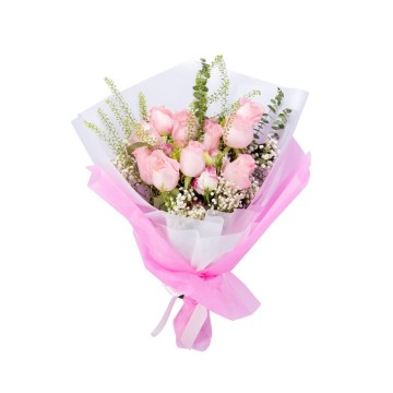 """Lady in Pink"" Hand Bouquet"